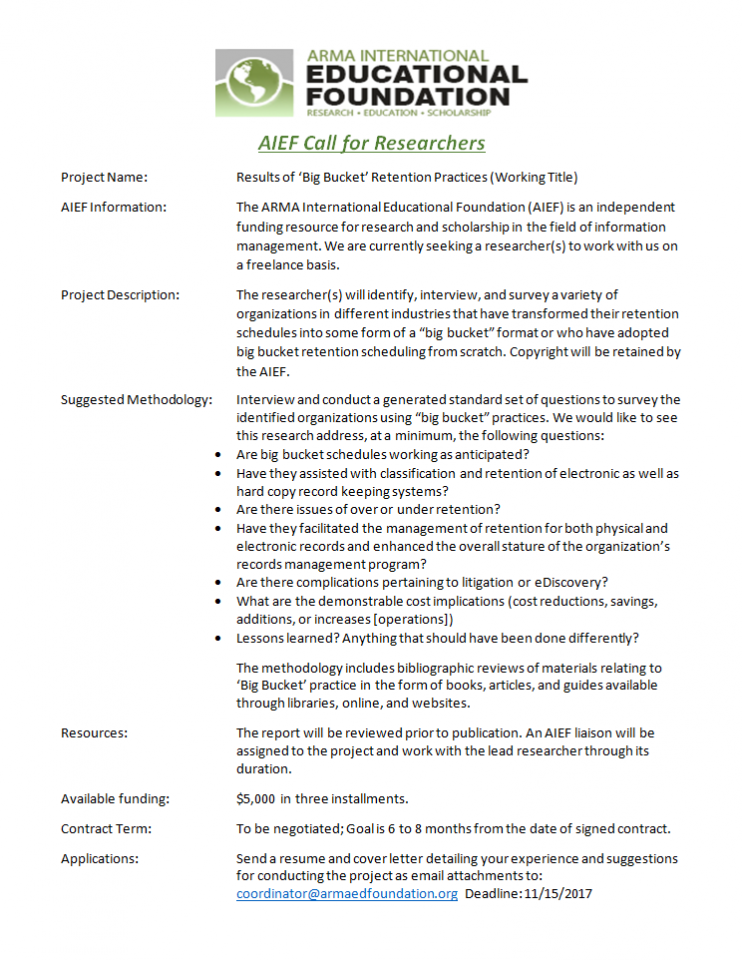 AIEF Call for Researchers Announcement