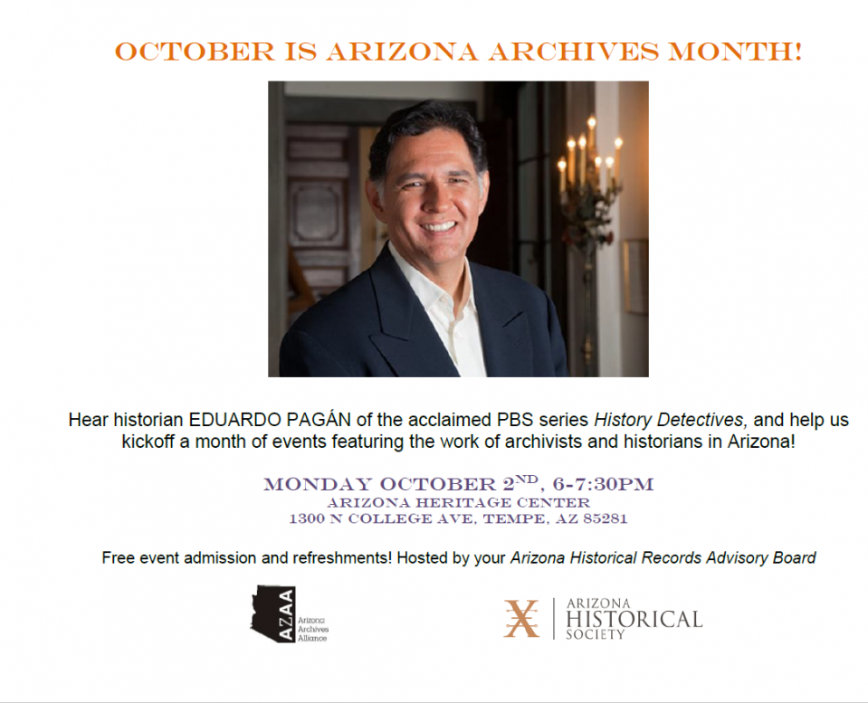 Arizona Archives Event Flyer