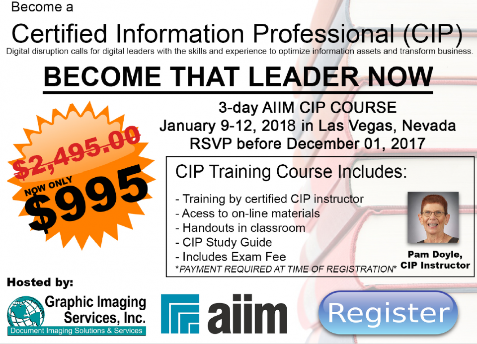 CIP Training Opportunity